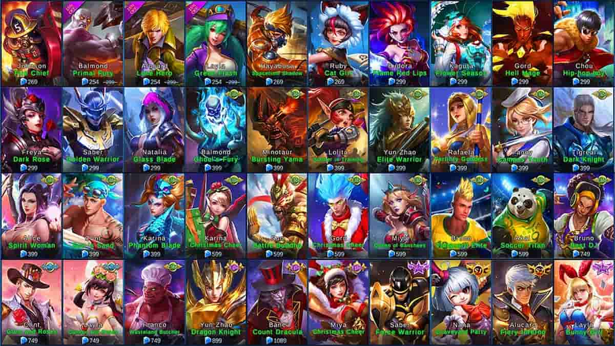 mobile legends heroes rank